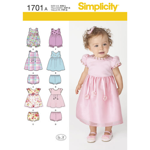 Simplicity Babies' Dress and Separates (XXS - L)