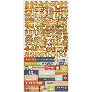 Simple Stories Under The Stars Cardstock Stickers, 6 by 12-Inch, Expressions Multi-Colored