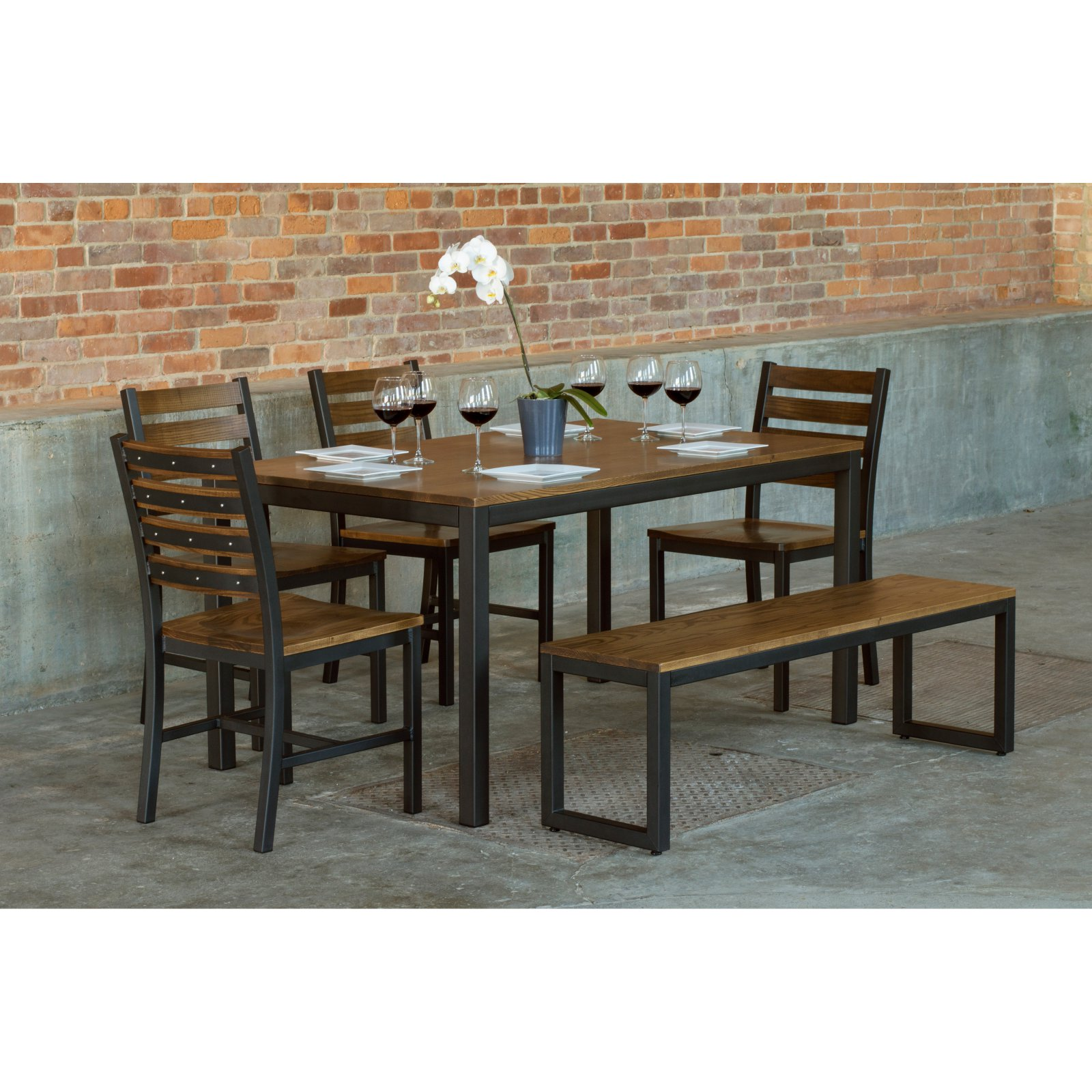 Elan Furniture Loft 6 Piece Dining Table Set