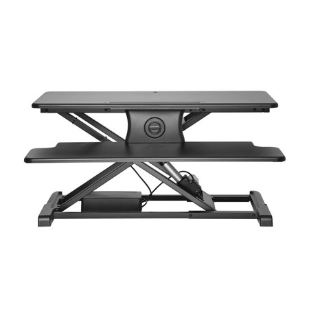 PrimeCables Electric Height Adjustable Standing Desk, Power Motor Button Touch Sit to Stand Desk Riser Fits Single/Dual Monitor - image 2 of 7
