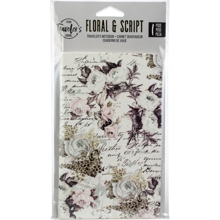 Prima Traveler's Journal Personal Refill Notebook-Floral & Script - image 1 of 1