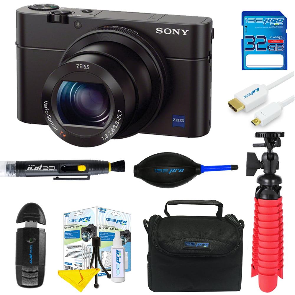 Sony Cyber-shot DSC-RX100 III Digital Camera + 32GB SD Card + Tripod + Pixi Basic Bundle Kit