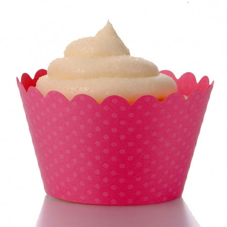Dress My Cupcake Standard Hollywood Pink Cupcake Wrappers, Set of 12