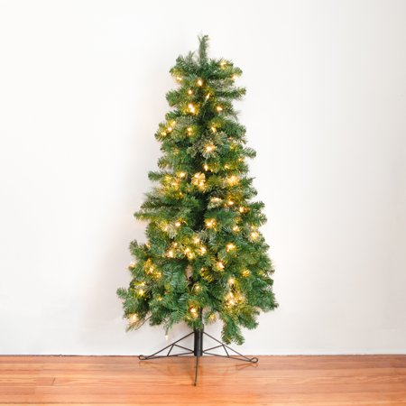 Home Heritage 7 Ft Pre-Lit Artificial Half Christmas Tree with Folding Stand  - image 3 of 7
