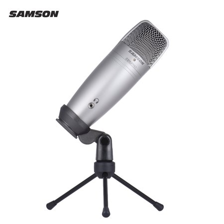 SAMSON C01U PRO USB Studio Condenser Recording Microphone Mic Large Diaphragm with Mini Tripod Stand Swivel Mount USB Cable for Mac iPad PC Laptop Tablet