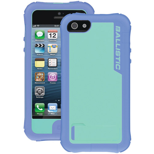 BALLISTIC EV0993-M095 iPhone(R) 5 Every1 Case with Holster (Pastel Violet/Pastel Blue PC)