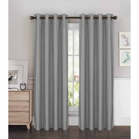 Kim Faux Silk Extra Wide Grommet Curtain Panel Pairs