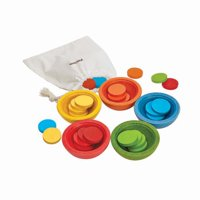 PlanToys Sort & Count Cups Baby Toy