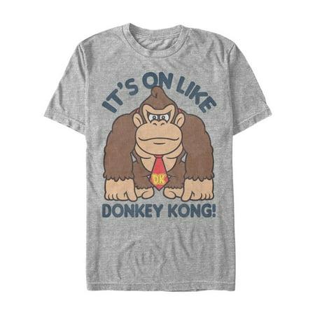 Unisex Adult It's On Like Donkey Kong - Funny Short Sleeve T-Shirt - -