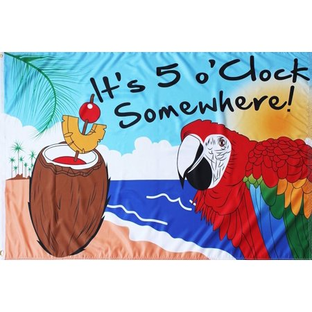 - It's 5 O'Clock Somewhere Summer Grommet Flag Drinks 3' x 5' Briarwood Lane