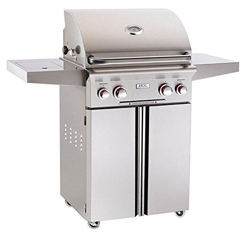 American Outdoor Grill T-Series 24 Inch Natural Gas Grill On Cart With Side Burner And Rotisserie Kit