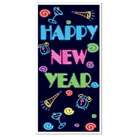 Happy New Year Door Cover Party Accessory (1 count) (1/Pkg), This item is a great value! By Beistle Happy Easter Door Cover