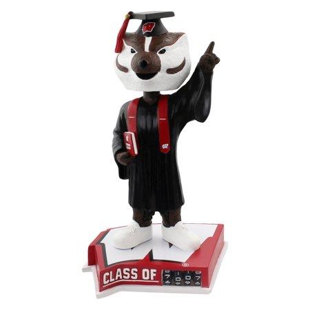 Badger Head - Bucky Badger Wisconsin Badgers Graduation Special Edition Bobblehead NCAA