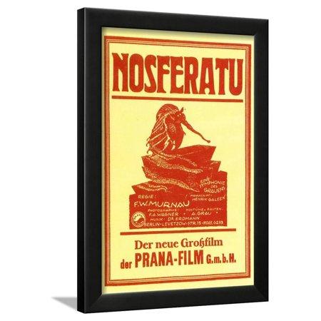 Nosferatu Movie Max Schreck 1922 Poster Print Framed Poster Wall Art