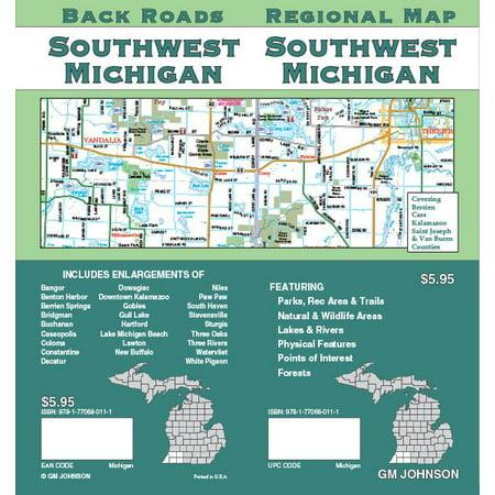 Southwest Michigan Folded Map