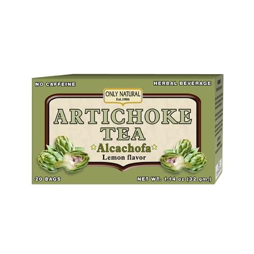 Only Natural Artichoke Caffeine Free Tea Bags, Lemon - 20 Ea