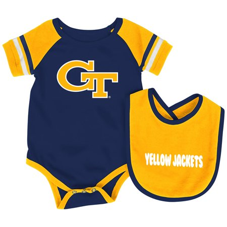 - Georgia Tech Yellow Jackets Colosseum Roll-Out Infant One Piece and Bib Set