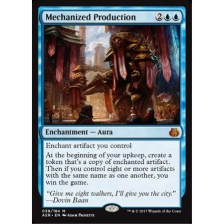 Magic: the Gathering - Mechanized Production (038/184) - Aether (Best Cards In Aether Revolt)