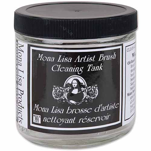 Houston Art Mona Lisa Artist Brush Cleaning Tank