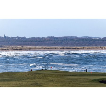 LAMINATED POSTER Beach Sea Golf Waves Golf Course Scenery Poster Print 24 x (Course Wave)