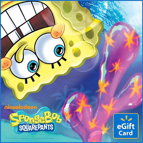 SpongeBob SquarePants Walmart eGift Card