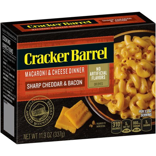 Cracker Barrel Macaroni And Cheese Dinner Sharp Cheddar & Bacon, 11.9 OZ