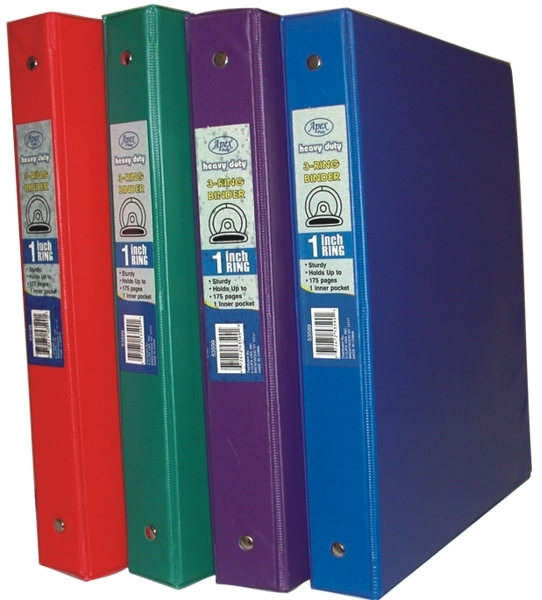 "Ddi Vinyl Binder - 1"" - O Ring - Assorted Colors. (pack Of 60)"