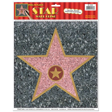 Club Pack of 12 Hollywood Celebrity Star Peel N Place Decorations 15