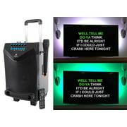 "Rockville 8"" Portable Bluetooth Karaoke Machine/System w/ Wireless Mic+LED Strip"