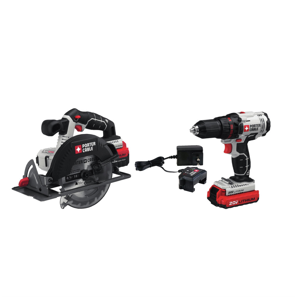 Porter-Cable PCCK605L2 20V Max Lithium-Ion Drill Driver and Circular Saw Combo Kit by Porter Cable