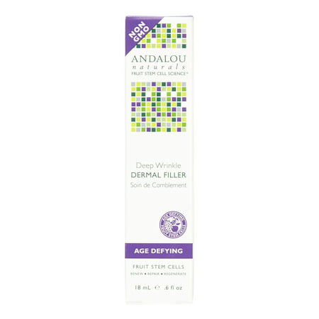 Deep Wrinkle Filler Set - Andalou Naturals Deep Wrinkle Dermal Filler, 0.6 Oz