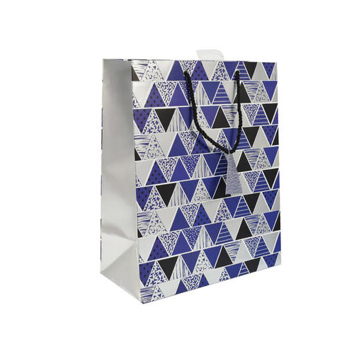 Gift Bag Present Bag Triangle Blue 1Pc - image 1 of 1