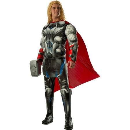 Avengers 2 Age of Ultron Deluxe Thor Men's Adult Halloween Costume, XL - Thor Halloween Costume Walmart