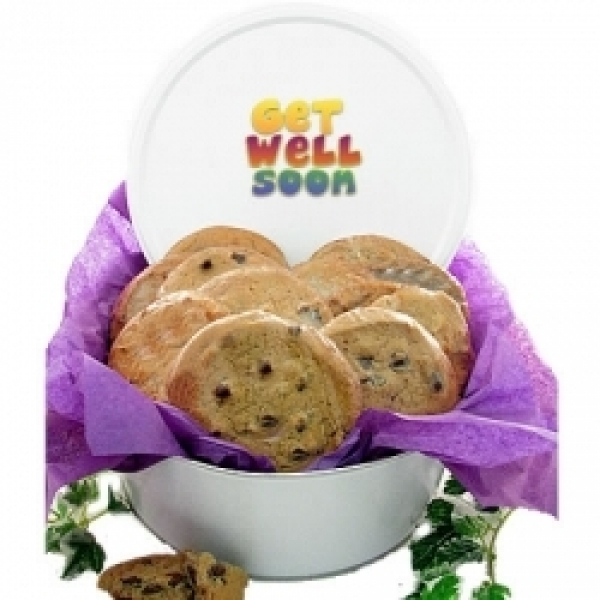 Get Well 3lb Tin 12 Gourmet Cookies by
