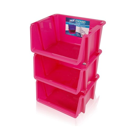 Genial Rebrilliant Stack U0027Ems  Stackable Storage Bin (Set Of ...