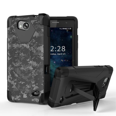 new arrival 88adf 8a8b6 ZTE Majesty Pro LTE / Majesty Pro Plus Case - Heavy Duty Shockproof  Protection [Impact Resistant] Slim Cover Armor Rugged Case with Built-in  Kickstand ...