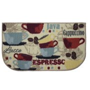 Structures Coffee Printed Textured Loop Kitchen Accent Rug