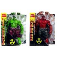Marvel Select Red & Green Hulks Set of Both Action Figures