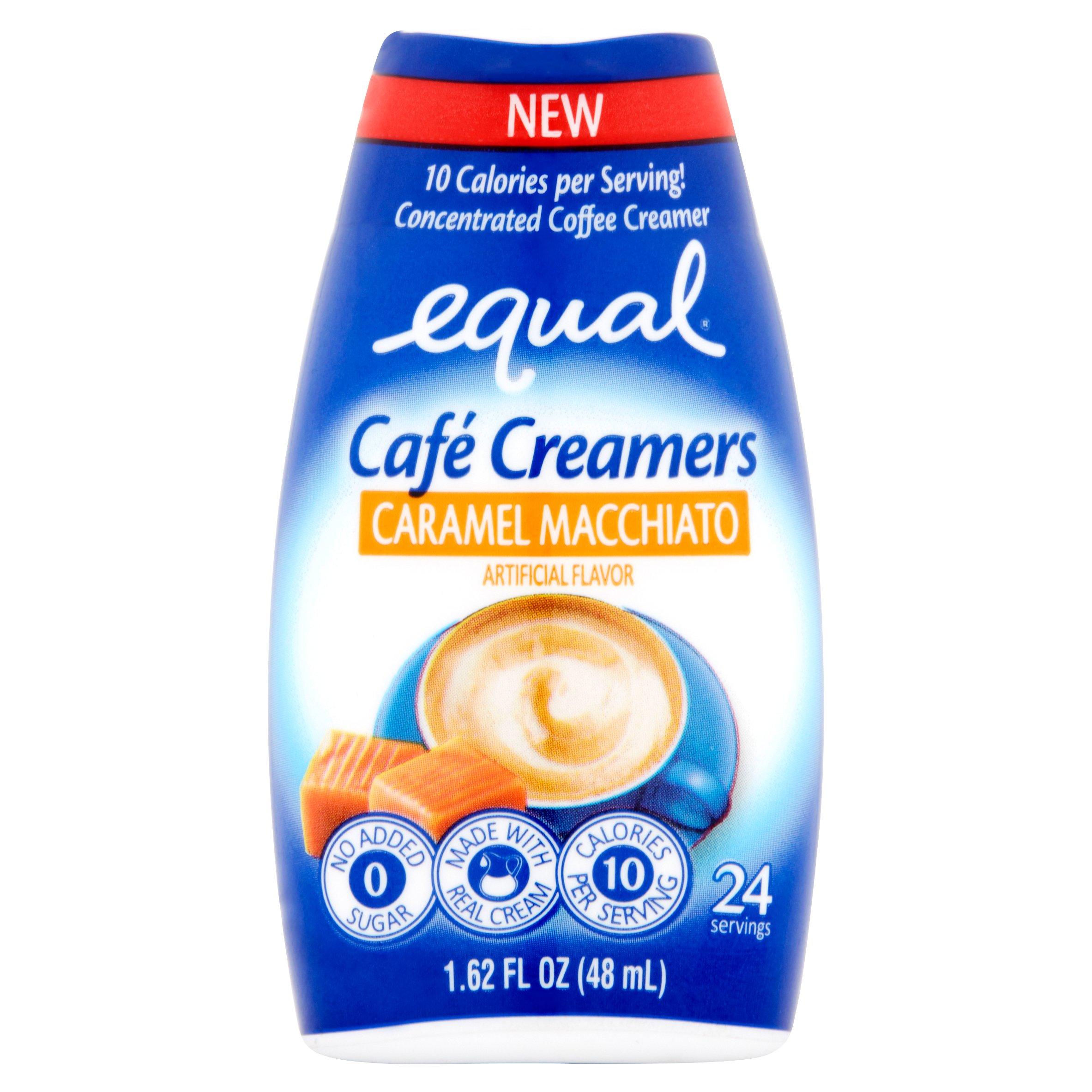 (6 Pack) Equal Cafe Creamers Caramel Macchiato, Low-Calorie Coffee Creamer, 1.62 Fl Oz