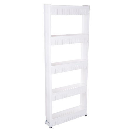 Slim Slide Out 5 Tier Storage Tower with Wheels by Lavish Home