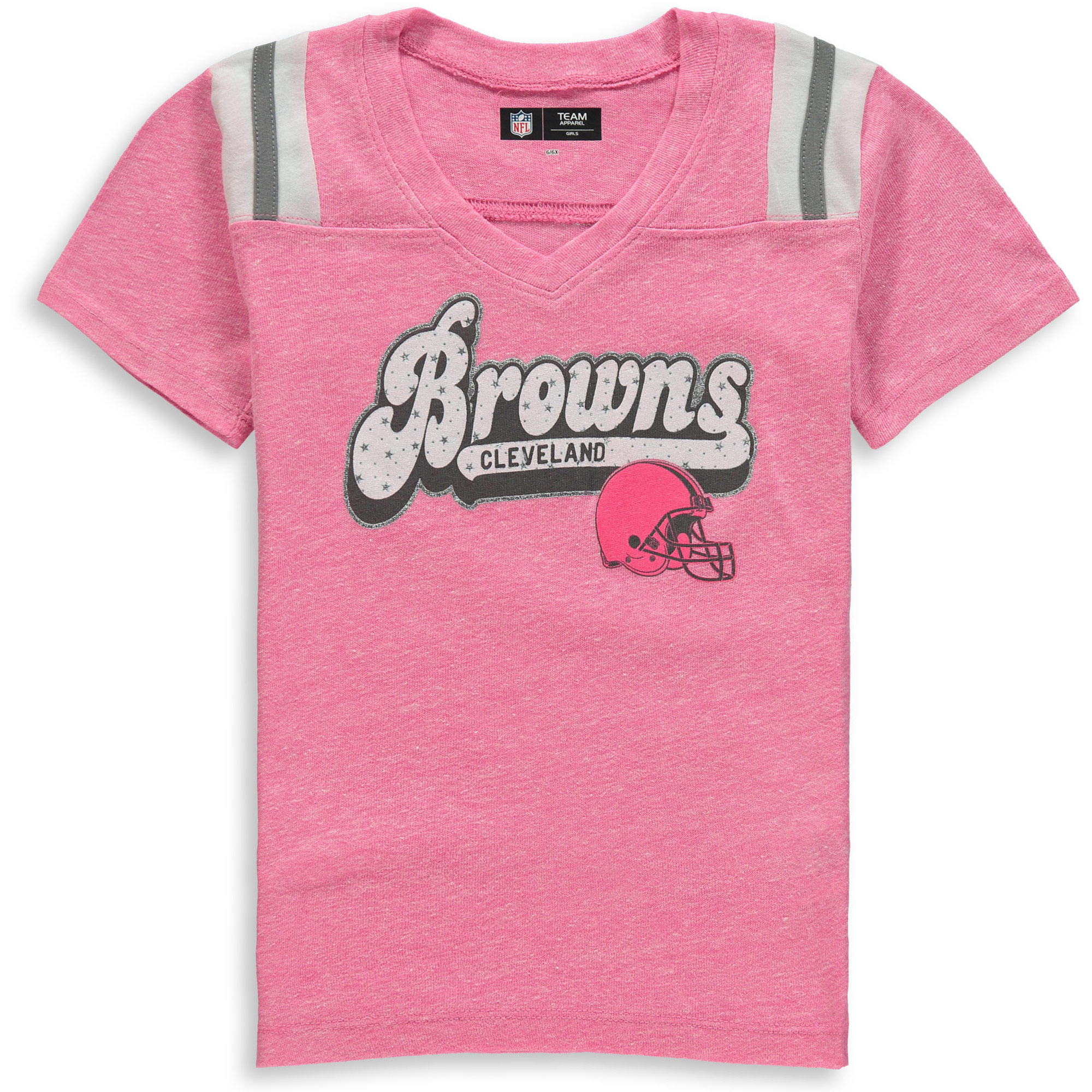 Cleveland Browns New Era Girls Youth Star of the Game Tri-Blend T-Shirt - Pink - Yth XL