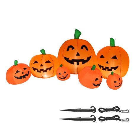 Yescom 7Ft Halloween Inflatable Pumpkin Decoration Patch LED Light Blow Up Jack-O-Lantern Party Yard Garden Lawn Outdoor