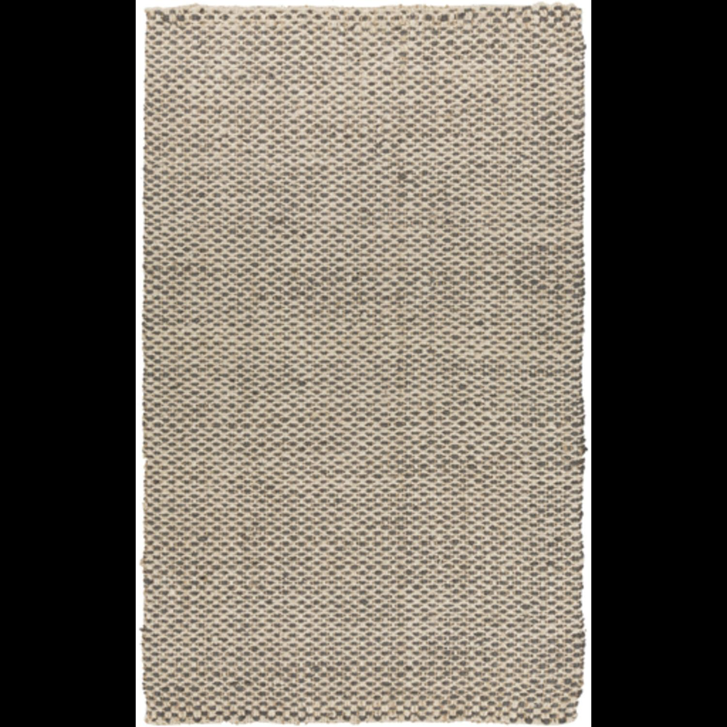 2' x 3' Alluring Burlap Slate Gray and Ivory Hand Woven Jute Area Throw Rug