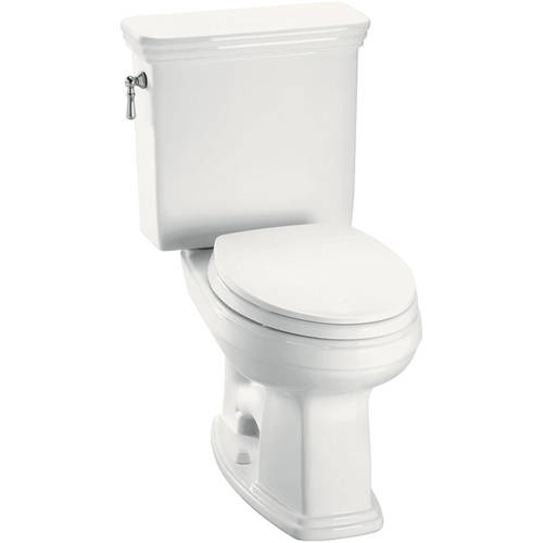 Toto Promenade Two Piece Elongated 1.6 GPF Toilet with G-Max Flush System, Less Seat, Available in Various Colors