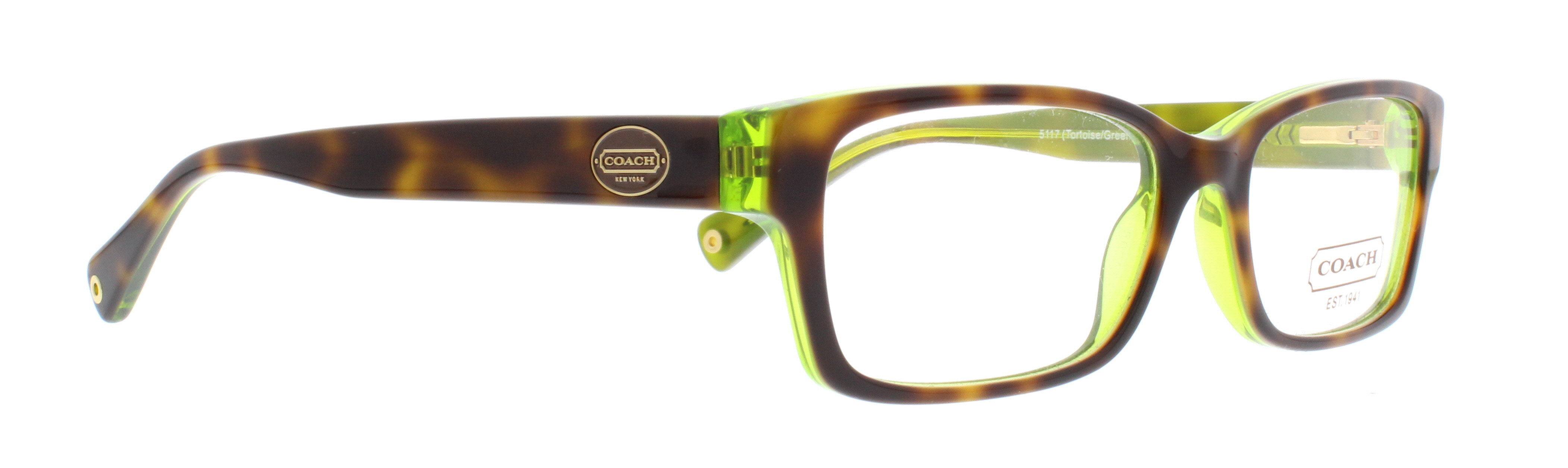 7145a2ce48 COACH Eyeglasses HC 6040 5116 Tortoise Teal 52MM - Walmart.com
