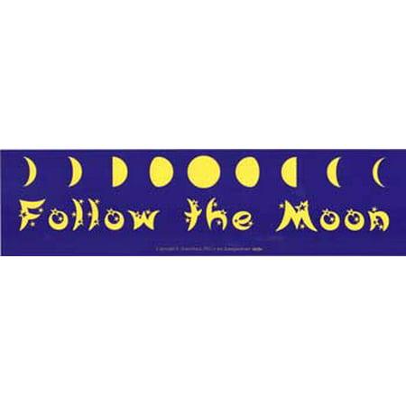 Moon Express - Follow the Moon Bumper Sticker Novelty Amusement Toy Express Your Witty Attitude