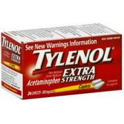 TYLENOL Extra Strength Acetaminophen 500 mg Caplets 24 ea (Pack of 3)