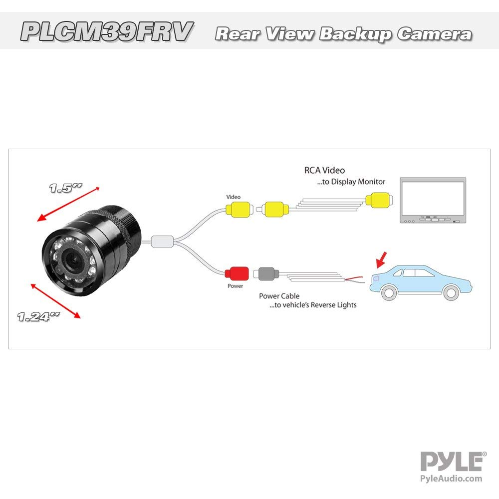 Pyle Plcm39frv Universal Mount Front Rear Camera 125\u201d Marine Rhwalmart: Pyle Rear View Camera Wiring Diagram At Gmaili.net