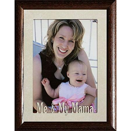 5X7 Jumbo ~ Me & My Mama Photo Frame ~ Holds A 5X7 Portrait Photo ~ Christmas, Birthday For Mother/Mom Gift (Walnut)