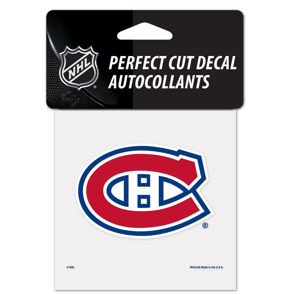 Montreal Canadiens Official NHL 4 inch x 4 inch  Die Cut Car Decal by Wincraft